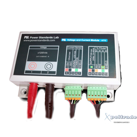 Moduł tłumika do PQube 3 model ATT2-1200V - Napięcie  ±1200VDC/600VAC / Prąd DC poprzez przetworniki Halla'a