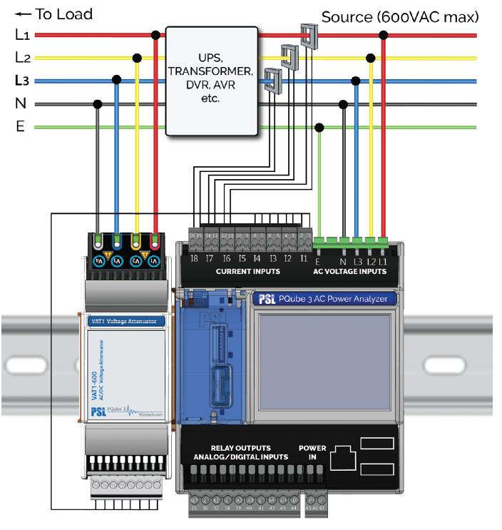 VAT1-600 podłączenie do sieci