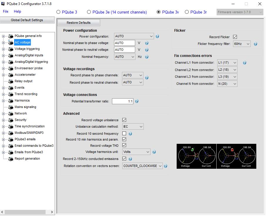 Konfigurator PQube3V